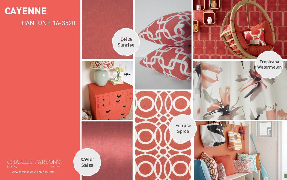 Pantone Spring 2014 interior decor inspiration Cayenne | Color ...