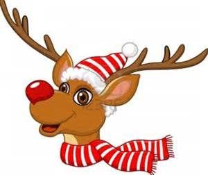 Cute Christmas Reindeer Clipart Of