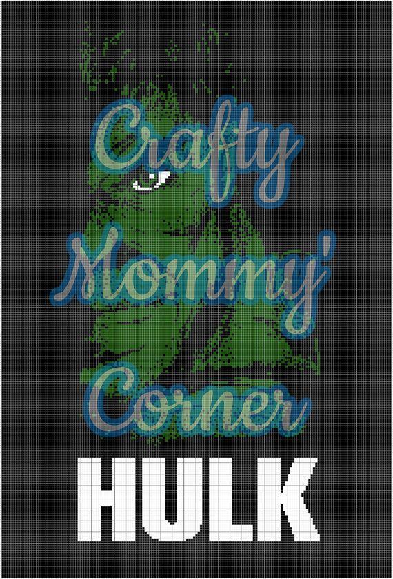 Hulk Graphghan Pattern Super Hero Crochet Afghan Pattern Digital