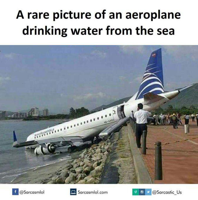 2e56bf099c2e8fd14068860f729b0709 a rare picture of an aeroplane drinking water from the sea fun