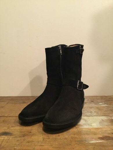 211-58-7651 SIDE ZIP BOOTS/nonnative×Rags BLACK