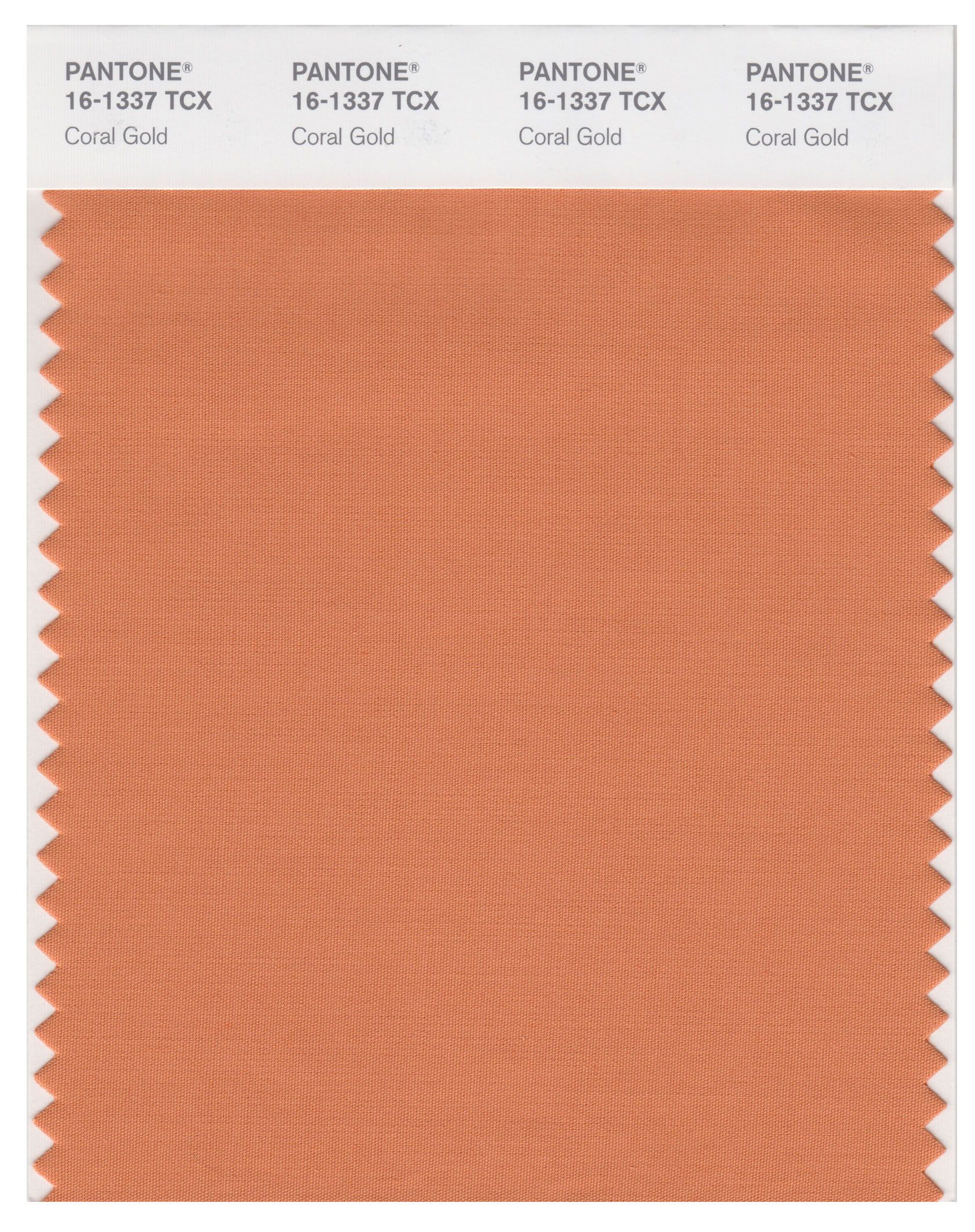 Pantone Smart 16 1337 Tcx Color Swatch Card - Coral Gold