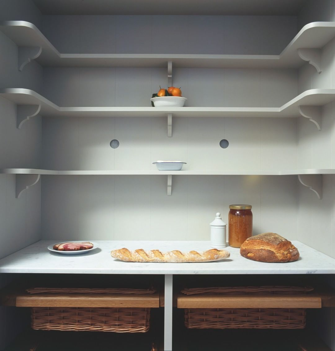 "Plain English Design on Instagram: ""We so enjoy the old fashioned simplicity of our Plain English larder cupboard. So very pleasing! #lardercupboard #kitchendesign…"""