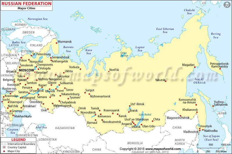 Russian Cities Map R travel Pinterest City maps Russia and City