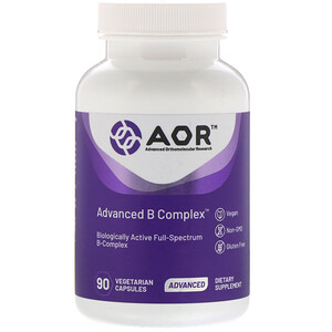 Advanced Orthomolecular Research Aor مرك ب فيتامين ب المتطور 90 كبسولة نباتية In 2020 Vegetarian Niacin Vitamin Vitamins