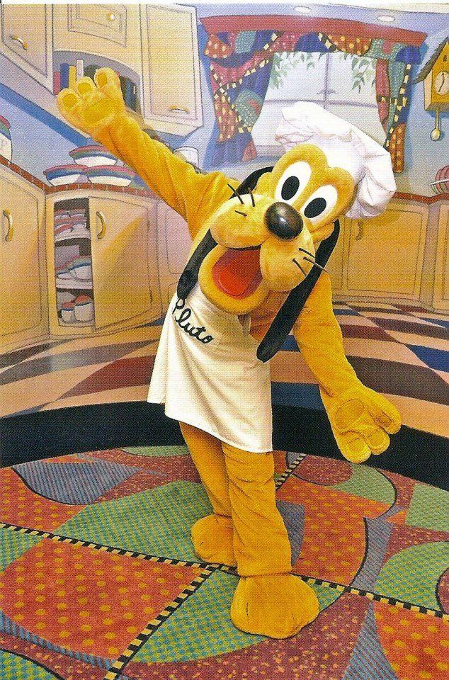 Pluto At Goofy S Kitchen On 2 11 2013 Disneyland Disney Characters Disneyland Trip