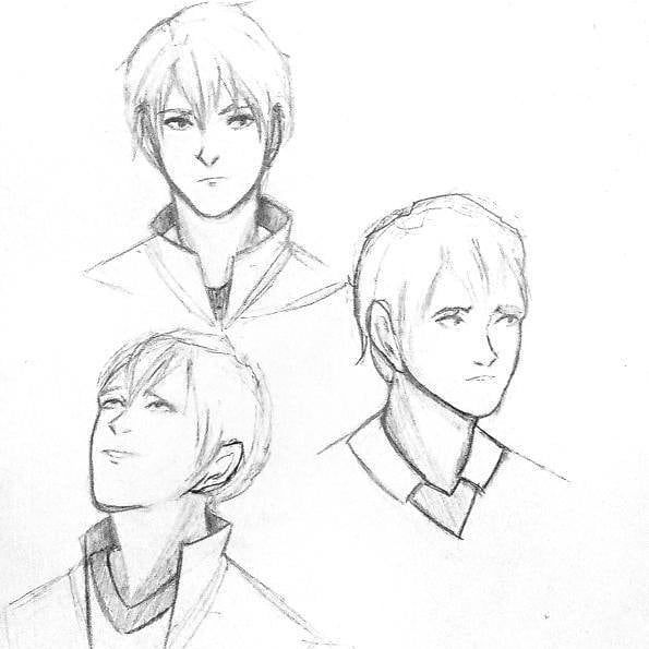 So this is my first post I guess so heres a few Kageyama sketches because he deserves the world