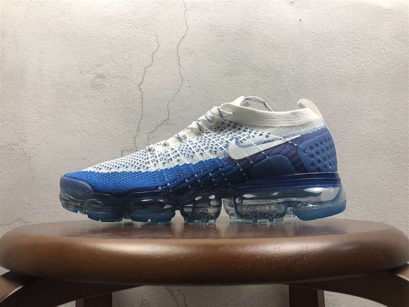 39036d10d22f8 Men Nike Air VaporMax 2 0 Flyknit White Blue 852-780349 Hot Sale