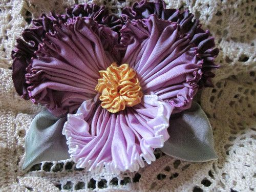I want to make a ribbon flower like this for my millinery projects