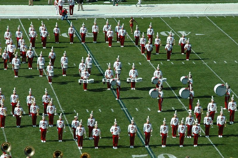 Ensemble timing on the football field with images