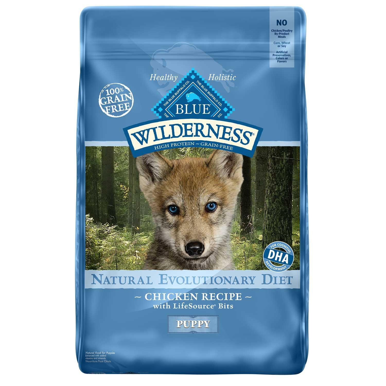 Blue Buffalo Blue Wilderness Puppy Chicken Recipe Dry Dog Food 24