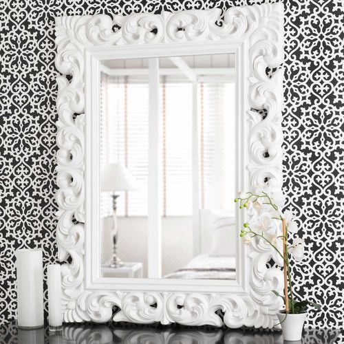 Miroir en polyrésine blanc H 120 cm RIVOLI | Déco | Pinterest ...