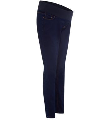 Maternity Navy Underbump Supersoft Skinny Jeans