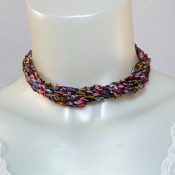 Ladder Yarn Necklace: Handmade Necklace by MarieAntoinknit for 9ElizabethStreet