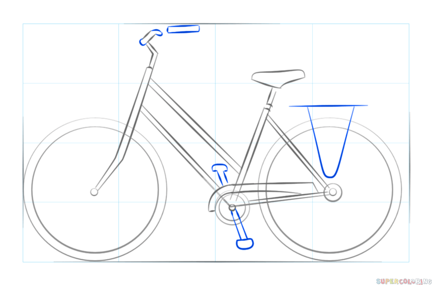 How To Draw A Bicycle Step By Step Drawing Tutorials For Kids And