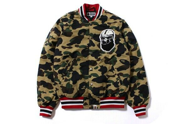 84ebcfc62543 Bape unhs 1st camo v for ar sity Camouflage baseball jacket outerwear  lovers-inJackets from Men s Clothing   Accessories on Aliexpress.com