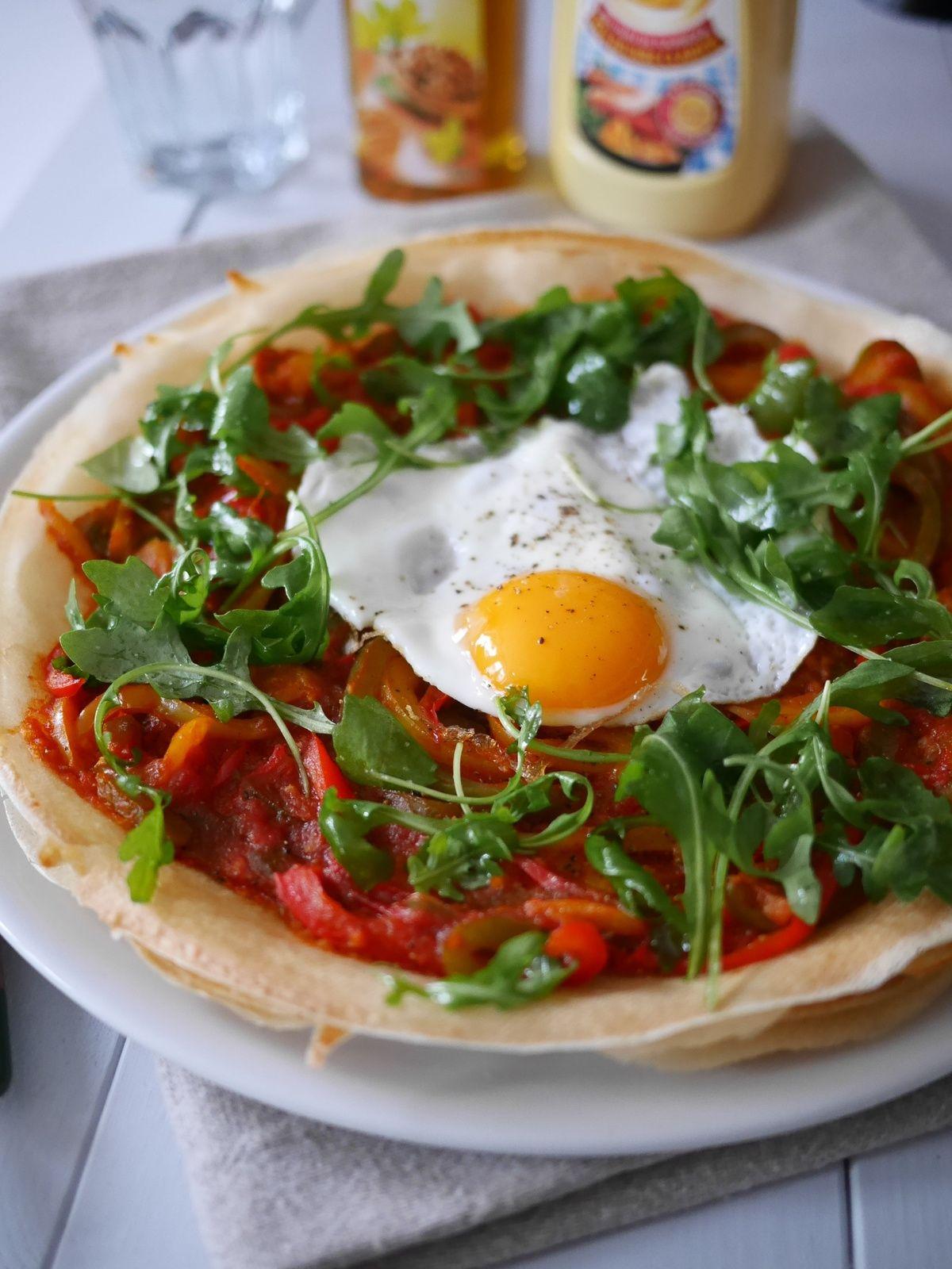"""Pizza poivrons et feuilles de Brick pour """"le placard à ..."""