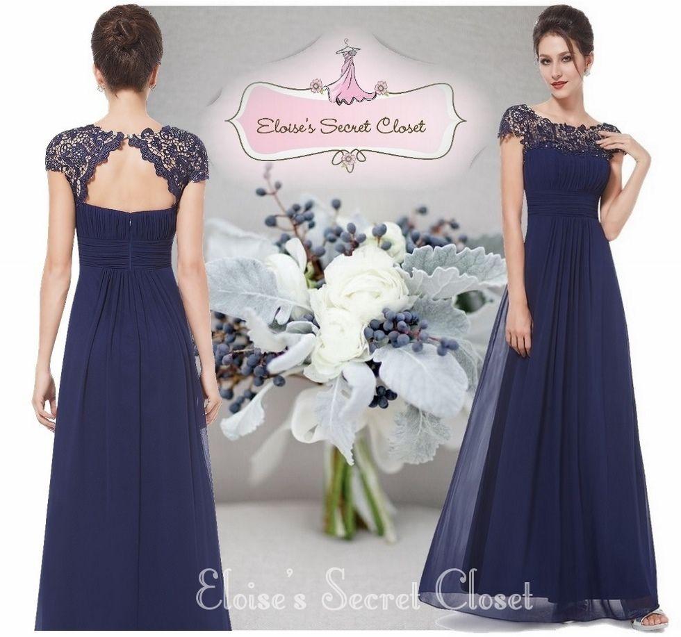 Katie navy blue lace chiffon dress elosies secret closet katie navy blue lace chiffon dress elosies secret closet ombrellifo Images