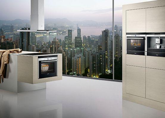 Siemens küche  Siemens #kitchen // #Küche mit Siemens #Dunstabzugshaube, #Ofen ...