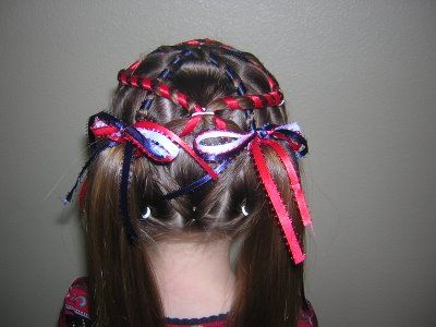 4th Of July Hairstyle  Infinity Braid Ribbon Twist   Pinterest     http   www princesshairstyles com search label 4th 20Of 20July
