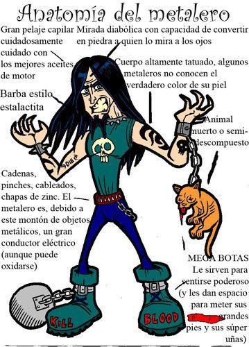 Anatomía de un metalero - rock_yugulaar | Pinterest | Anatomía ...