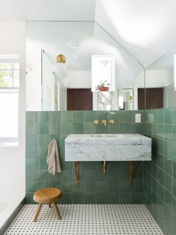 Green Envy In The Bathroom Via Simply Grove Bathroomdesign Bathroom Interior Design Green Bathroom Bathroom Interior
