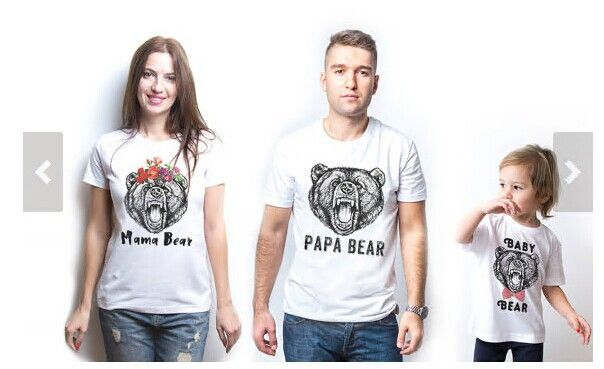 3effab290f 2017 summer family matching t-shirt papa mama baby bear family look T shirt  cotton mother and daughter clothes father son outfit