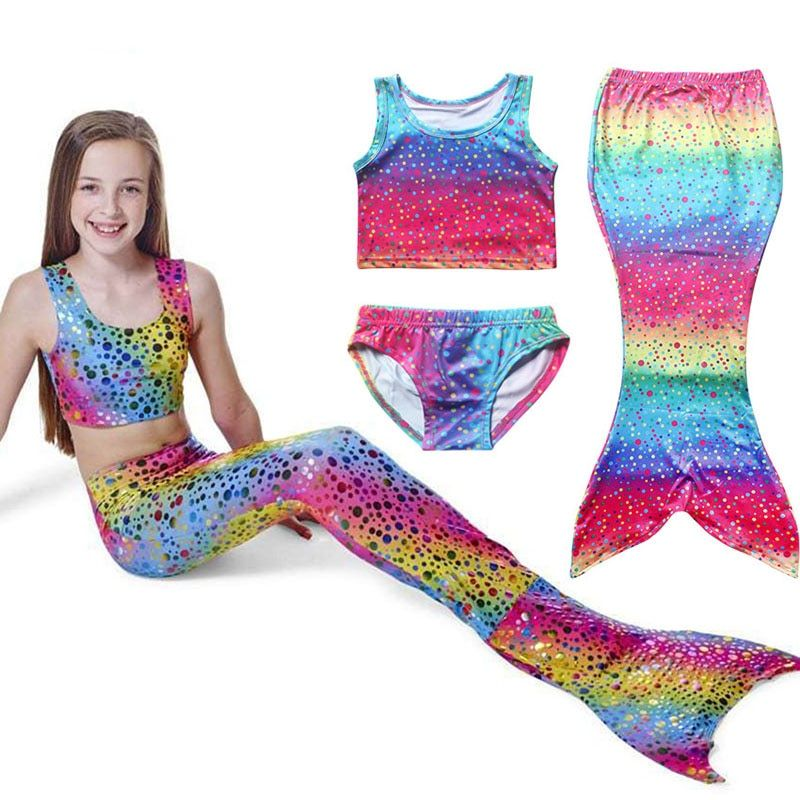 Free Delivery 4e86a B268c Mermaid Swimming Costume Child