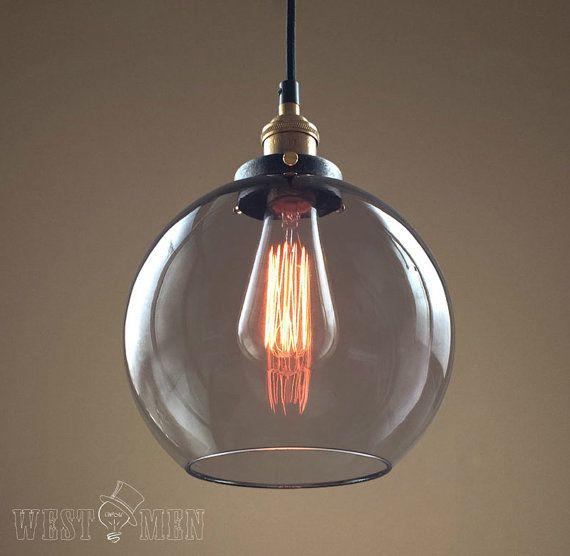 Glas globe adjustabl leichte moderne küche anhänger beleuchtung ul