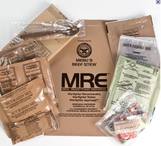 MREs in my Food Storage? - Use Your Instincts To Survive