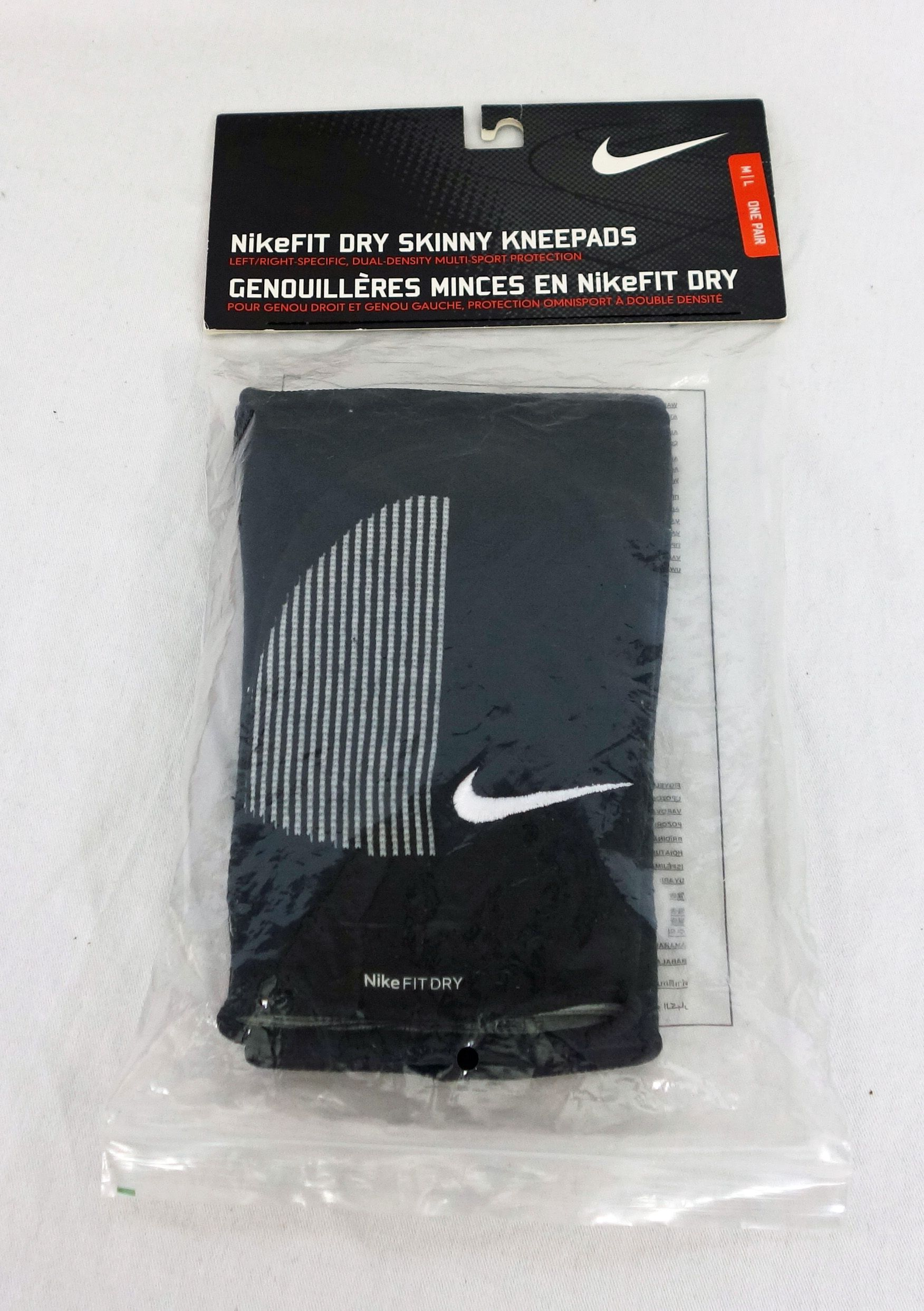 Nike Fit Dry Skinny Knee Pad M L Volleyball Multi Sport Knee Pads Volleyball Nike