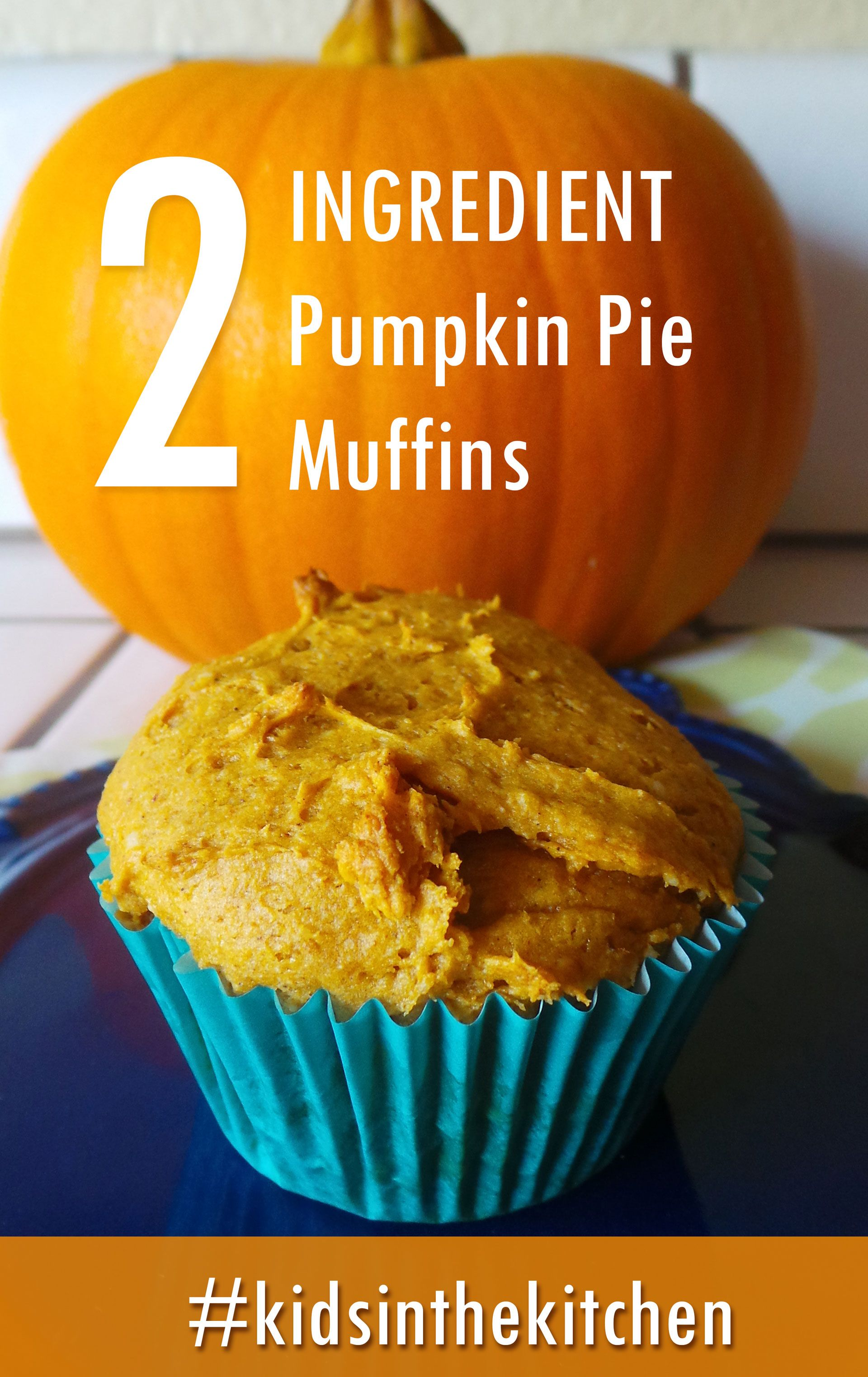 Pumpkin Muffin Recipe - Easy 2 ingredient pumpkin muffin recipe #pumpkinmuffins