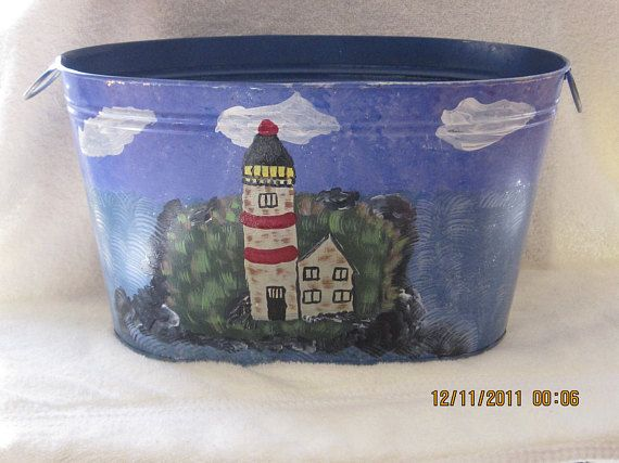 Lighthouse Tin hand painted great gift for Houswarming ... on lighthouse plates, lighthouse art, lighthouse urns, lighthouse gifts, lighthouse lighting, lighthouse garden, lighthouse sheds, lighthouse craft projects, lighthouse candles, lighthouse pottery, lighthouse flags, lighthouse home, lighthouse pots, lighthouse furniture, lighthouse sculptures, lighthouse jewelry, lighthouse statues, lighthouse birdhouses, lighthouse books, lighthouse fountains,