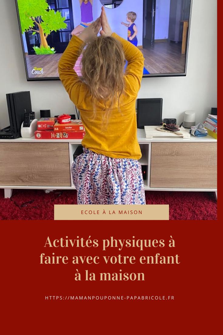 Activités À Faire À La Maison activités physiques à faire avec votre enfant à la maison