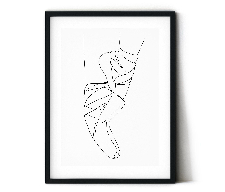 Ballet Slippers Ballerina Print