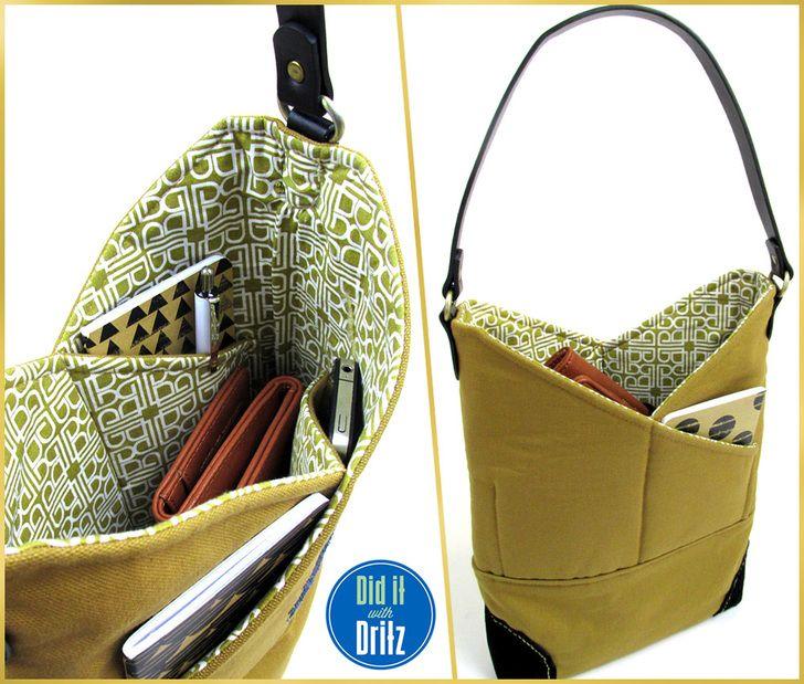The Convertible Damen Nähmuster für Taschen Nähen