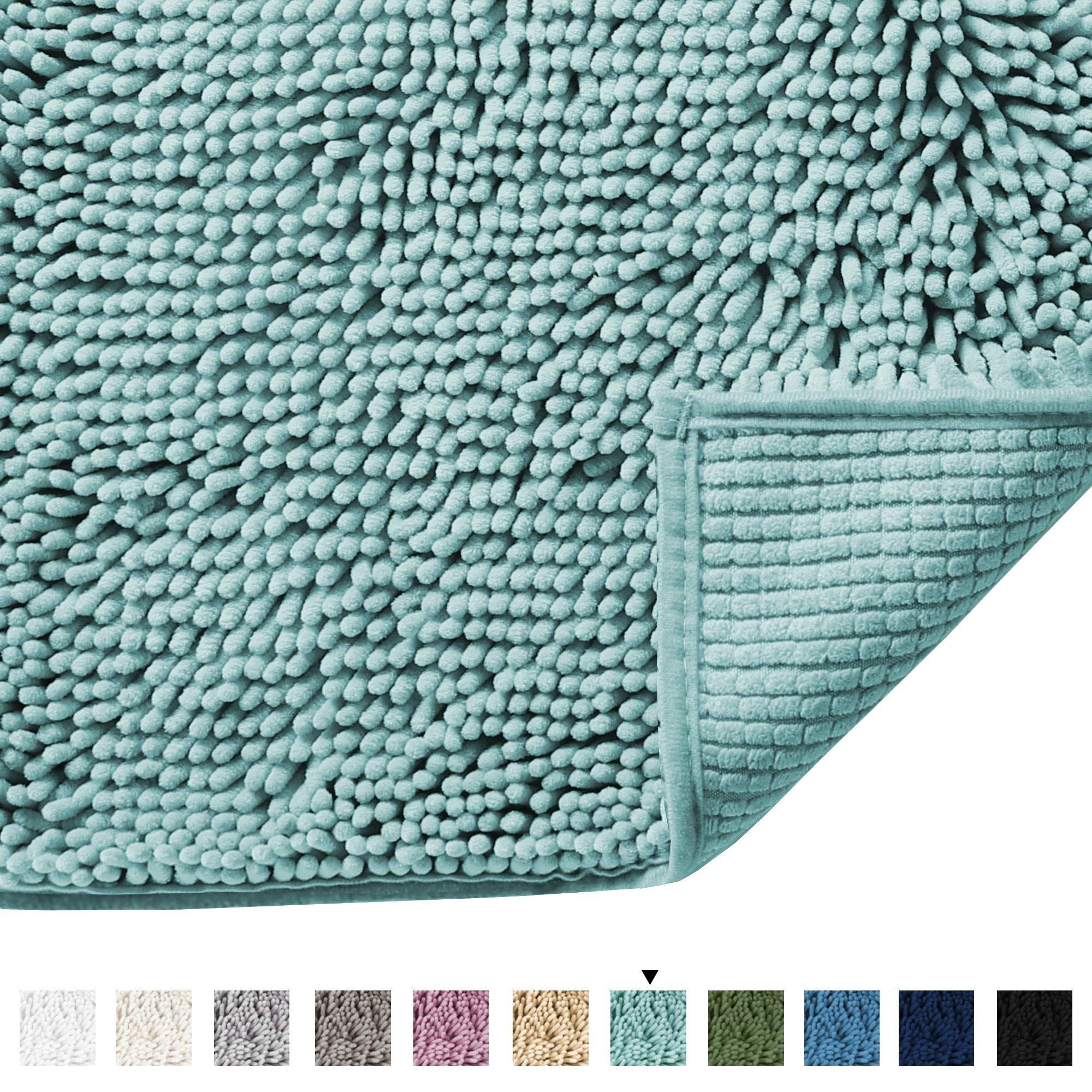 Microfiber Bath Rugs Chenille Floor Mat Ultra Soft Washable Bathroom Dry Fast Water Absorbent Bedroom Area Rugs 17 X 24 I In 2020 Plush Bath Rugs Floor Rugs Diy Rug