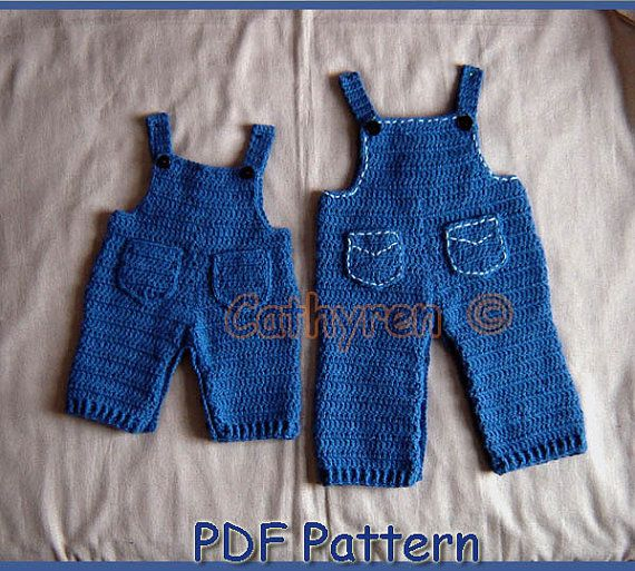Baby Denim Overalls, Dungaree, INSTANT DOWNLOAD Crochet Pattern #minioncrochetpatterns