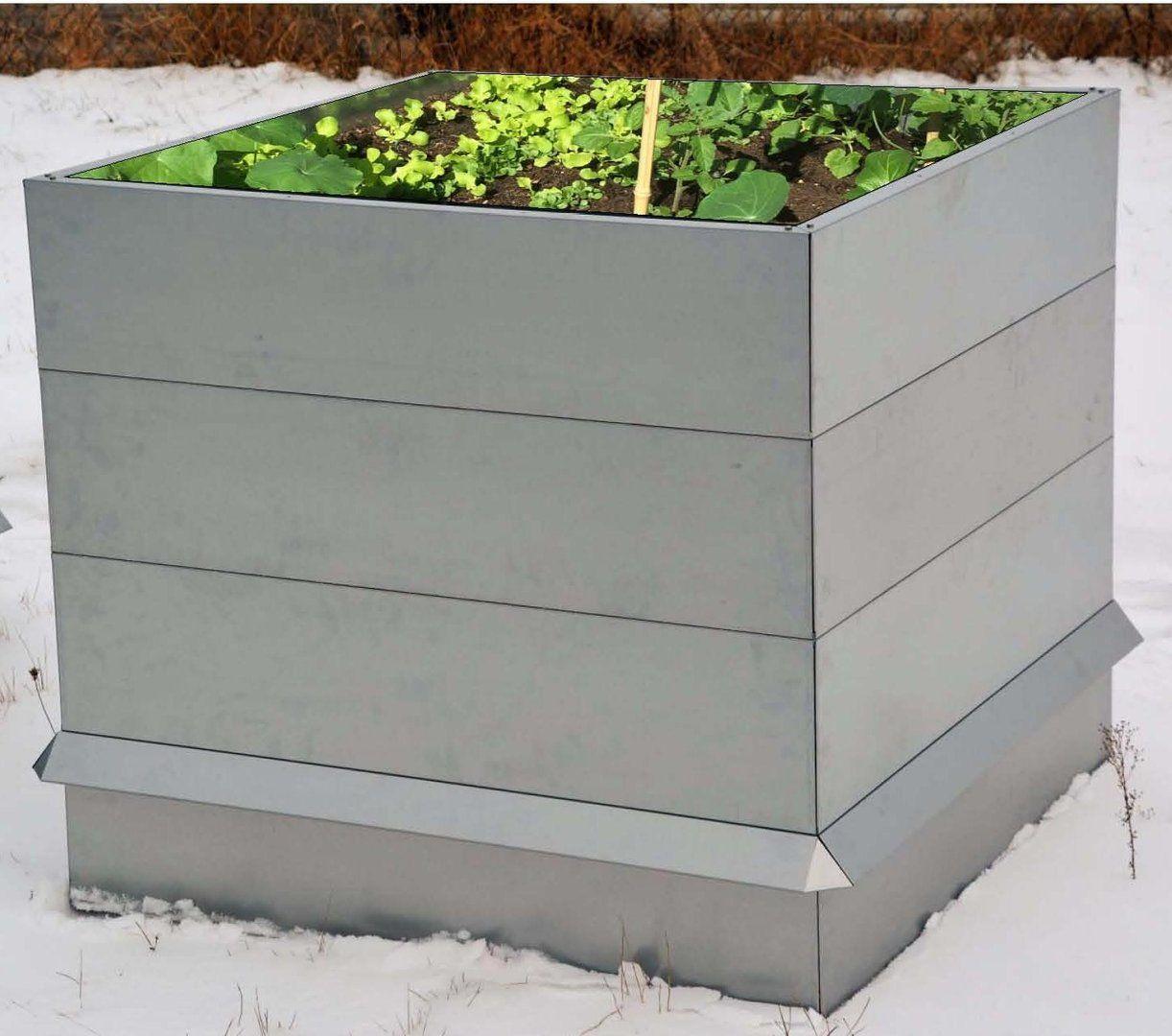 Hochbeet Metall Mit Schneckenzaun Metall 1 M X 2 M 90 Cm Hoch Schneckenzaun Hochbeet Garten Ideen