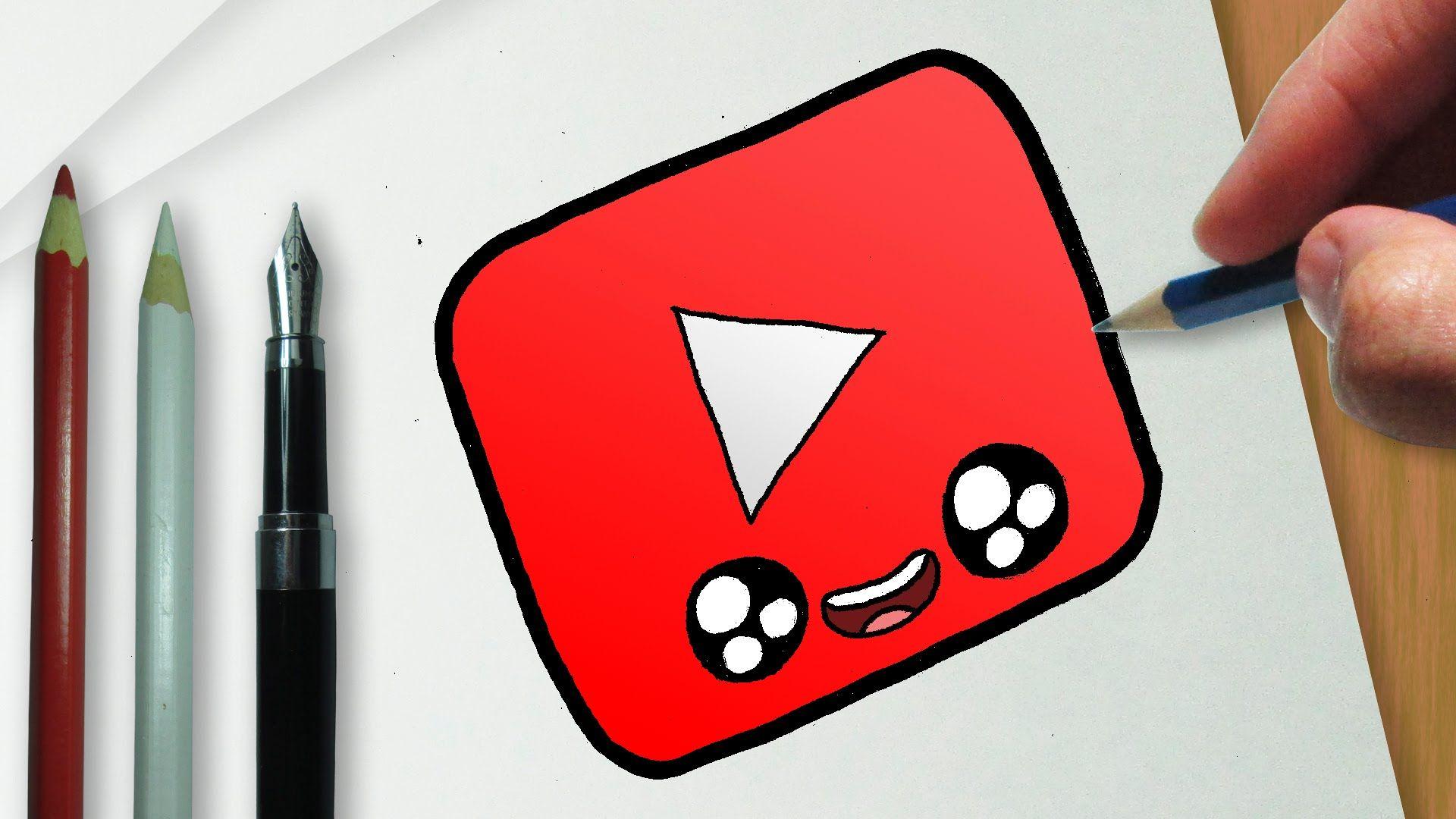 Como Desenhar A Logo Do Youtube Kawaii Como Desenhar Coisas