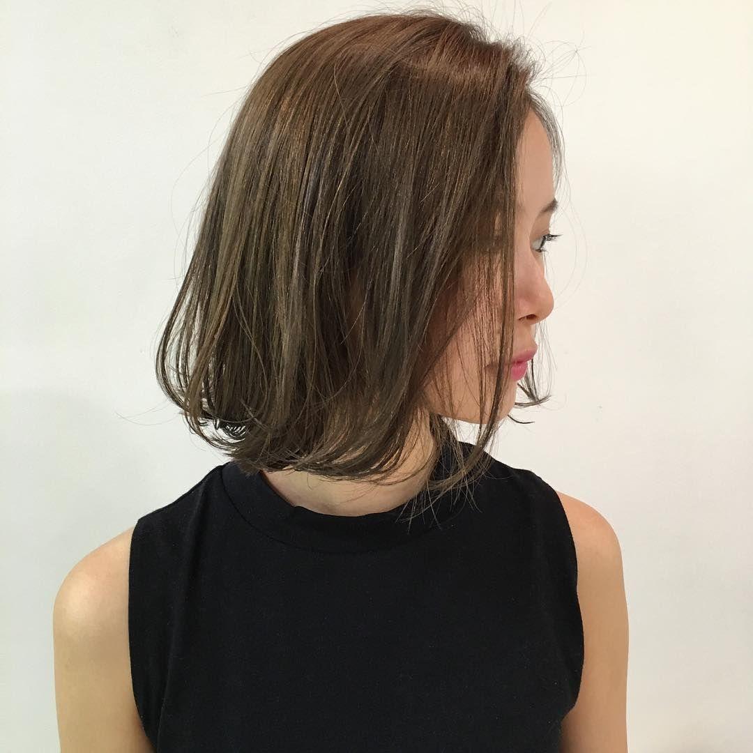 朝日奈央のインスタグラム Instagram 写真 美容院に行ってきました うきうきうき 美容院 カット カラー ボブ ボブヘア 8月10日 21時14分 髪型 ミディアム パーマ ボブヘア ボブ