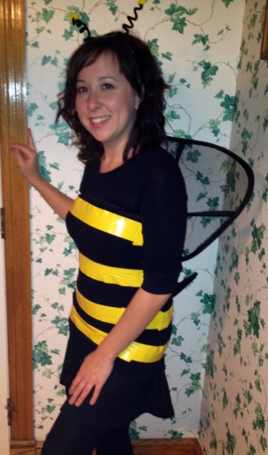 homemade adult bee costume | ... you used a lumbar support for your wings you can be a  worker-bee  sc 1 st  Pinterest : homemade adults halloween costumes  - Germanpascual.Com
