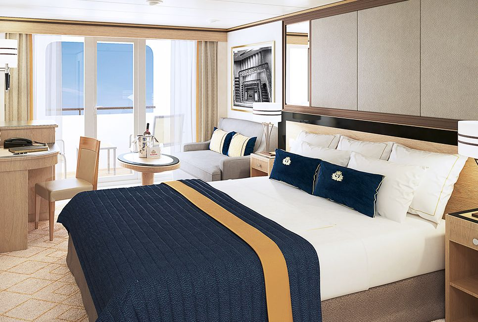 Learn All About The Features In Queens Grill Suites On Board Queen Mary 2 Cruise Ship Including Room Service And Satellite TV