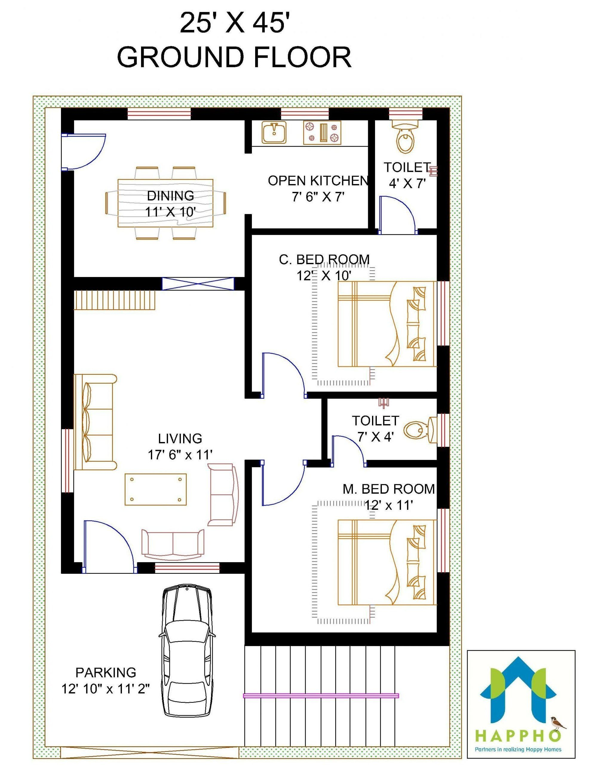 Two Bedroom House Plan Designs 2021 Simple House Plans Indian Simplehouseplansindian Bedroom House Plans 2 Bedroom House Plans 2bhk House Plan
