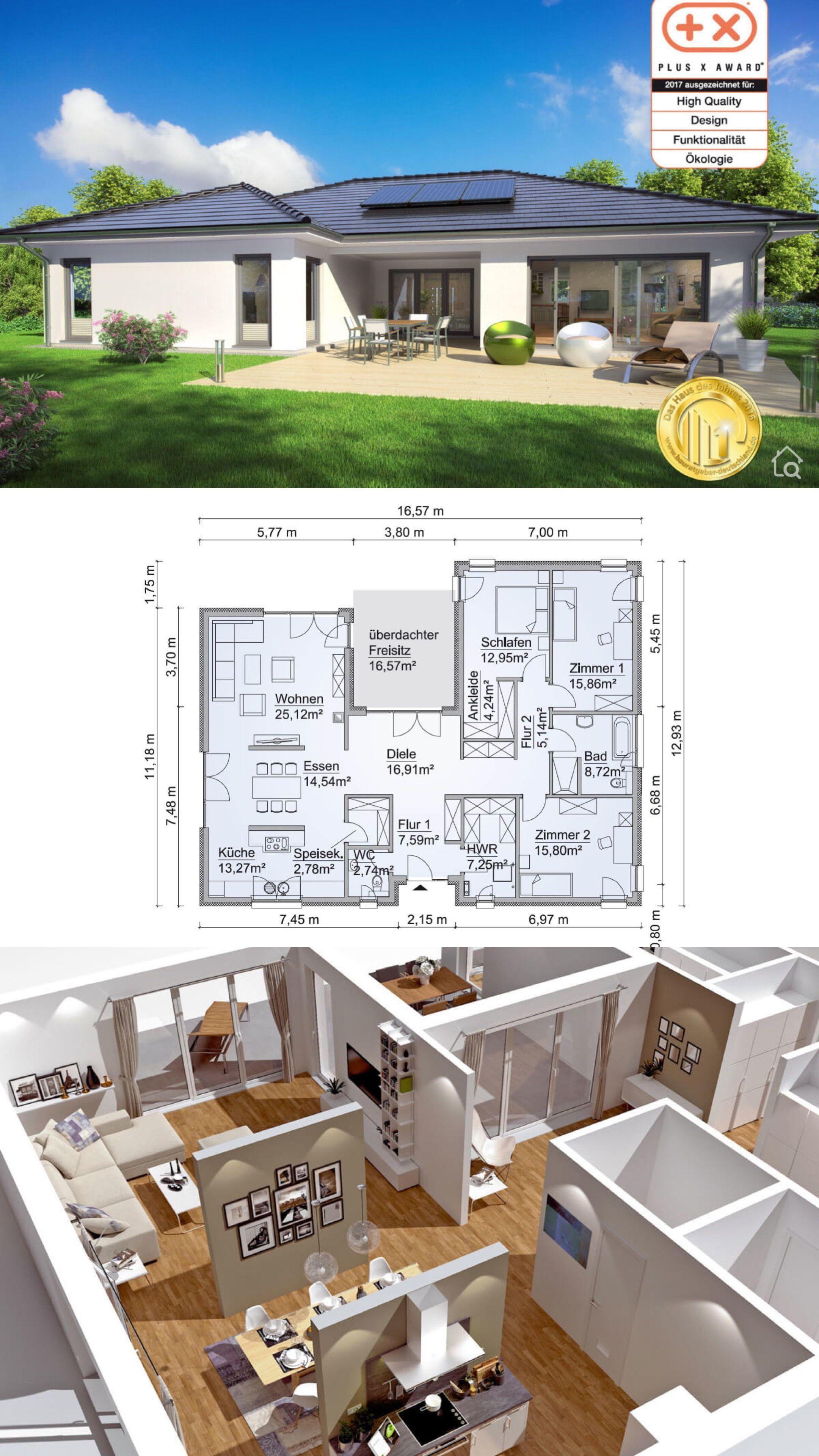 Bungalow House Floor Plans With One Level 3 Bedroom Open Concept In U Shaped Modern Contemporary Poetazhnye Plany Domov Plany Nebolshih Domov Proekty Nebolshih Domov