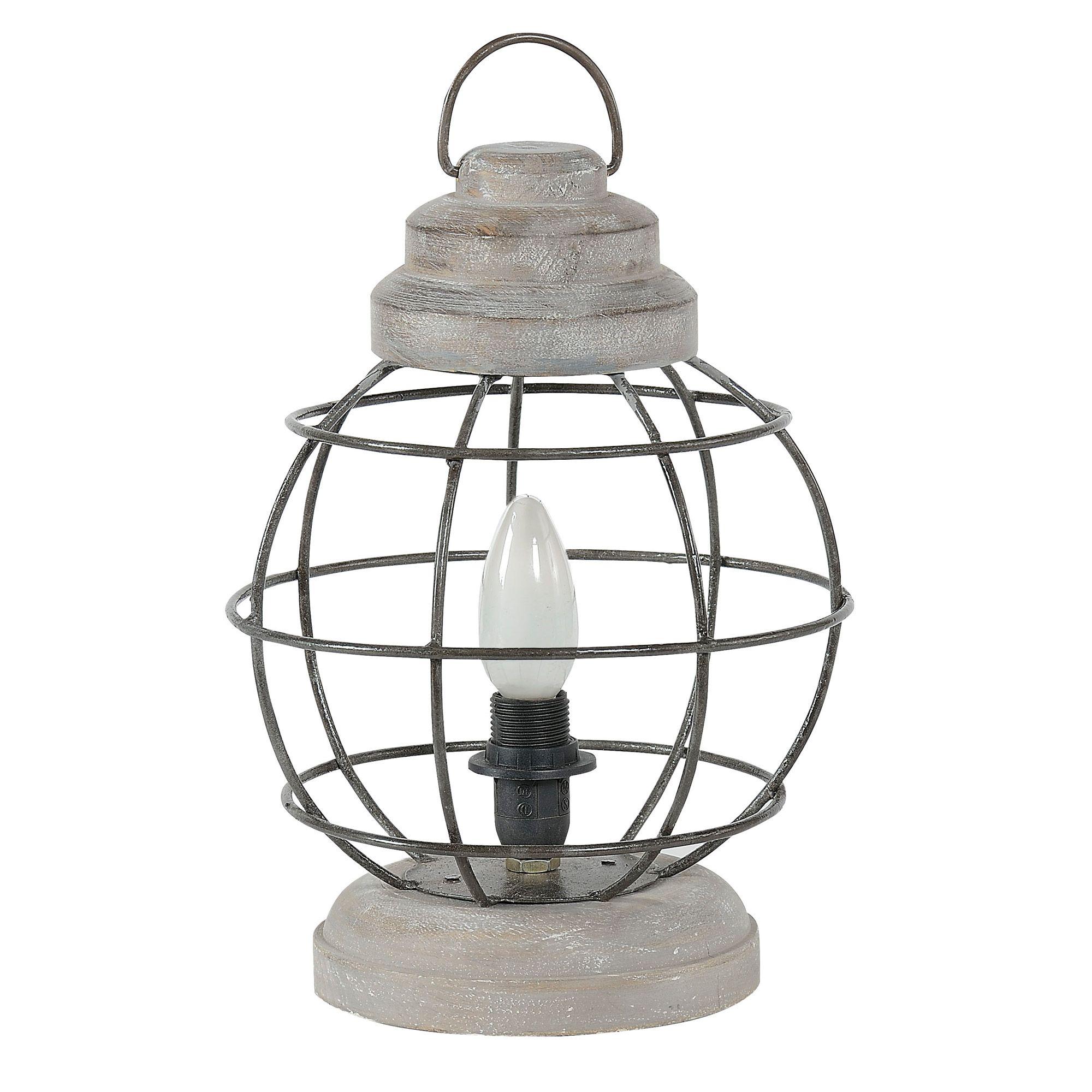 Lampe A Poser En Metal Et Manguier Gris Werk Jardin D Ulysse Lampe Manguier Lampe A Poser