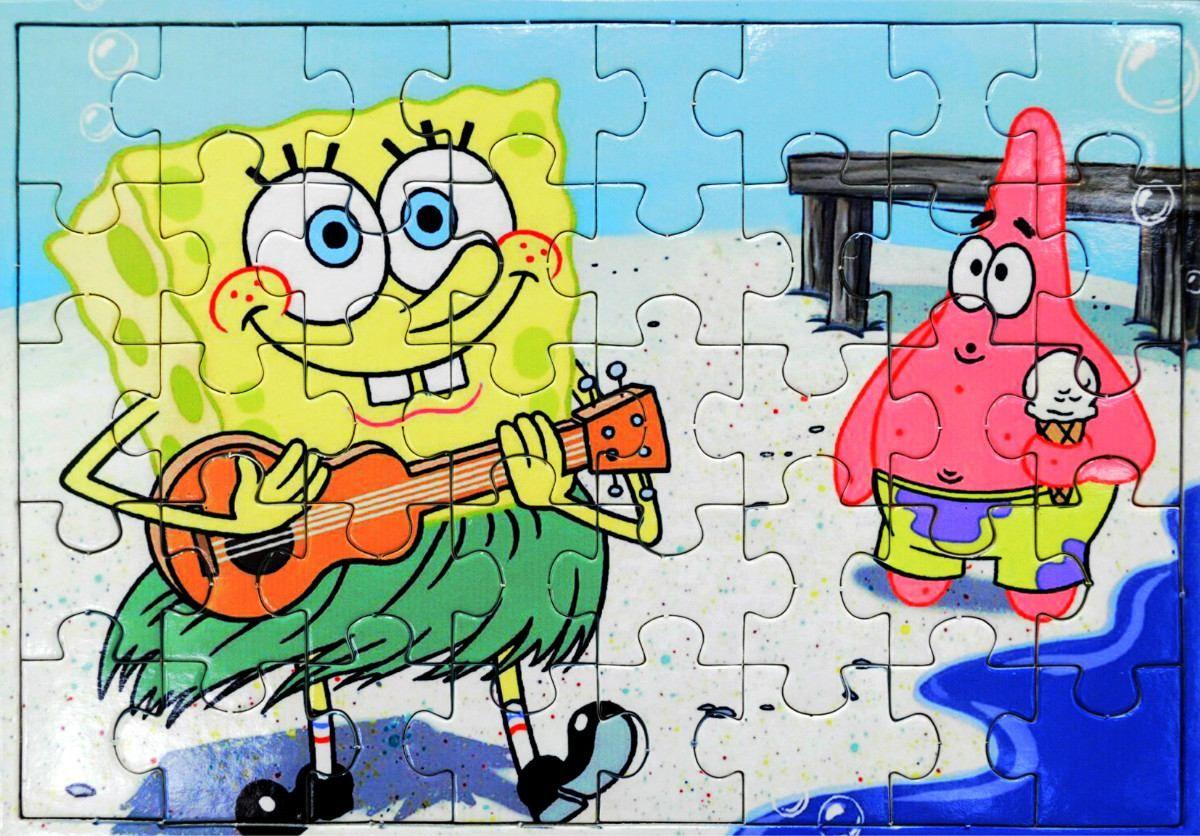 Quebra-Cabeça Bob Esponja e Patrick!