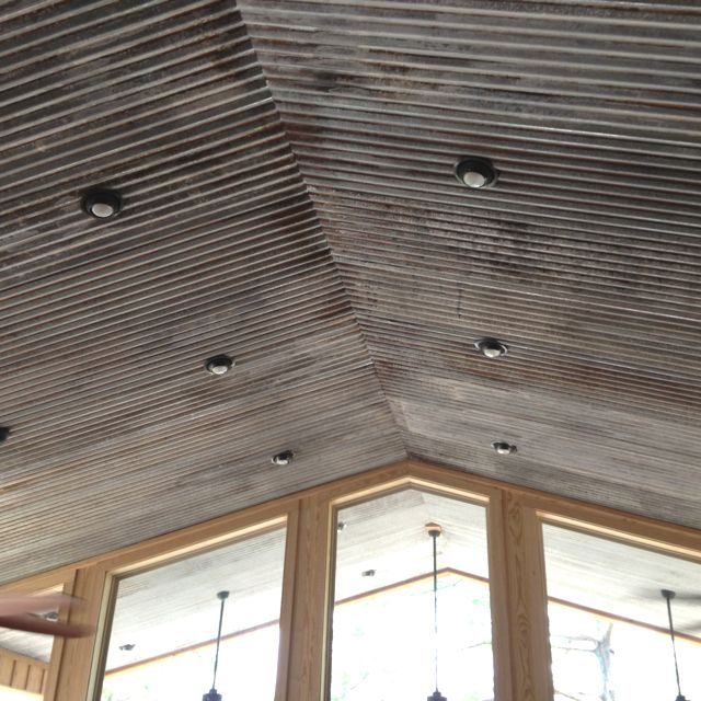 Metal Sheets As Interior Ceiling Chemically Rusted Then