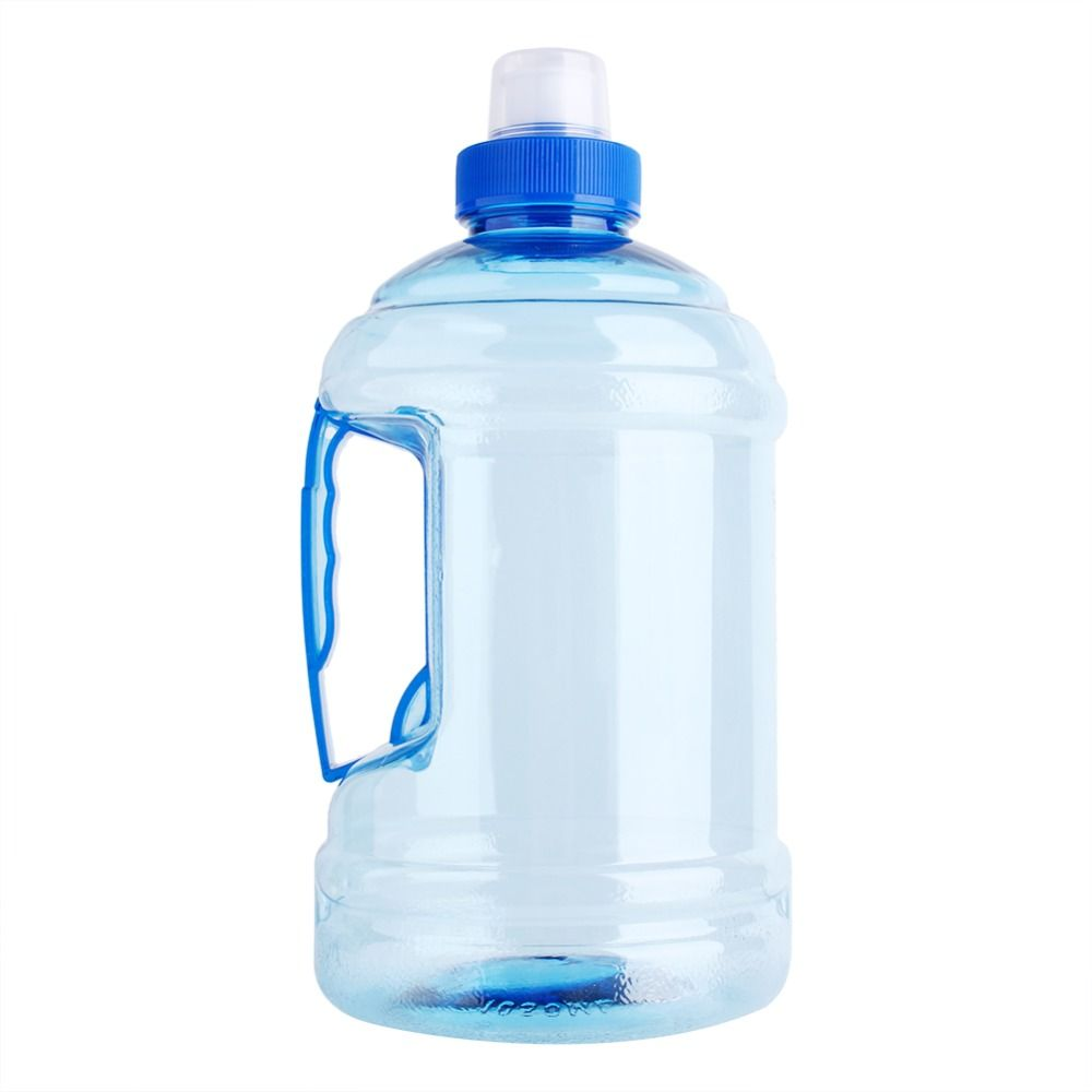2L Large Stainless Steel Water Bottle Sports Exercise Drinking Kettle With