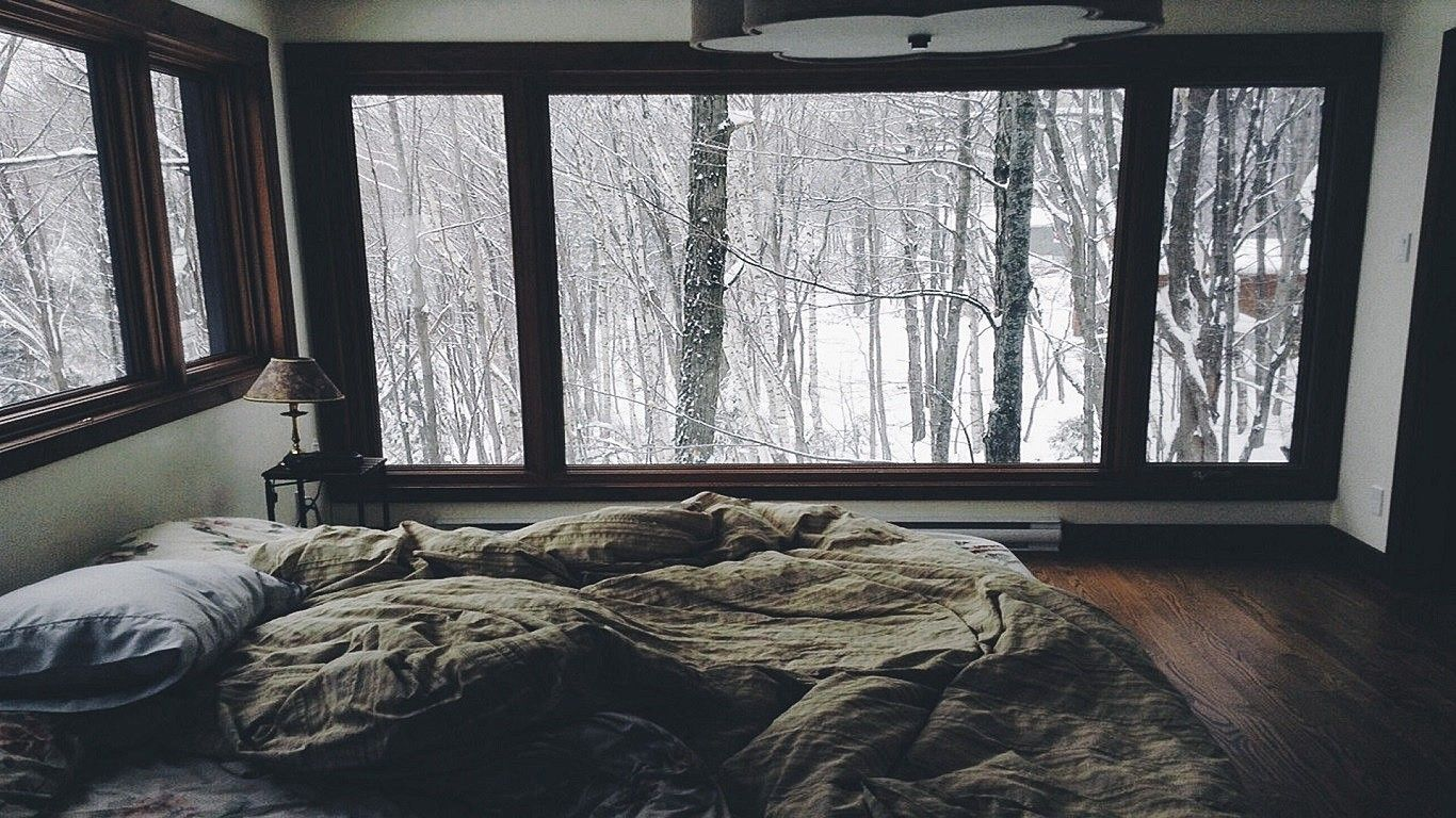 Download Hd Wallpapers Of 305219 Interiors Bed Winter Cozy Free